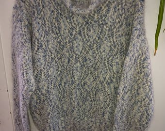 Vintage LIZ Baby Blue Angora Turtleneck Sweater - M