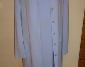 Vintage Liz Claiborne Dress and Matching Coat Outfit in A Lovely Purple Lilac Periwinkle Blue  Color, A Size 10 Dress and a Size 12 Coat