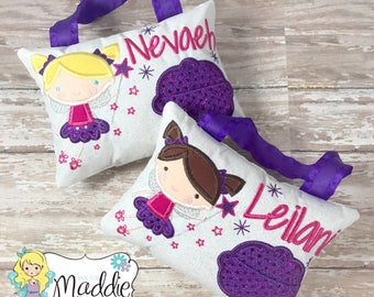 CUSTOM Girls Tooth Fairy Pillow, Princess Tooth Fairy Pillow, Keepsake Tooth Fairy Pillow, Tooth Fairy Pillow, Personalized Pillow