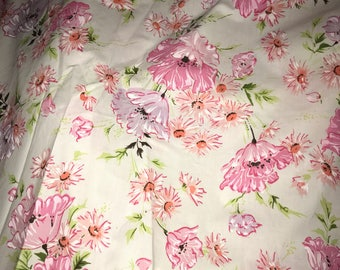 Vintage Pink Twin Fitted Floral Sheet like new