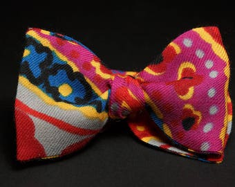 Fuchsia Self Tie Bow Tie