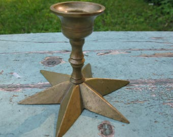 Sweet Little Vintage Brass Candle Holder