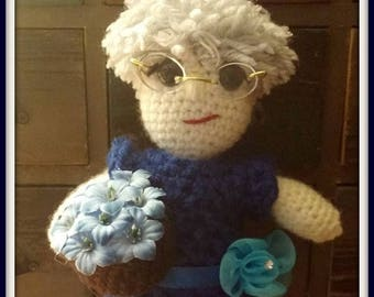 On Sale Mom doll Grandma doll Mother's Day Birthday Gift  Approximately 10 inches tall Amigurumi Handmade Crochet Made to Order