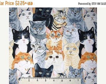 ON SALE Cat Fabric, Pet Fabric, Packed Cats, Kitty Fabric, 145530