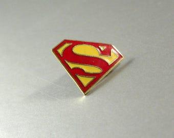 Superman Cloisonne Enamel Lapel Pin Tie Tack / 44 DC