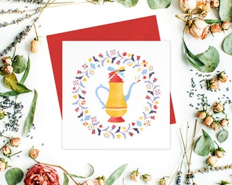 Teapot Greeting card / greeting cards set - Friend cards, Gift card, Birthday cards, Get Well Cards, Thank You Cards, Tea party invitation