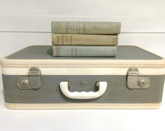 Vintage Suitcase Luggage Green/Gray Maximillian