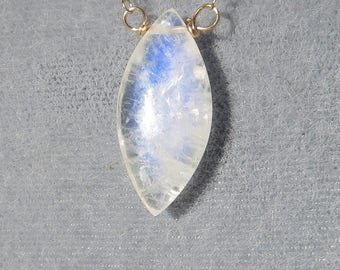 Rainbow Moonstone Gold Filled Necklace