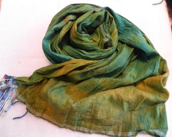 Hope Jacare Creative Textiles Hand dyed Hobra Raw Silk fabric approx 114 x 85 cm - RSF41