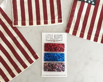 July 4th Hair Clips