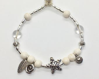 silver hill tribe bracelet, starfish boho jewelry
