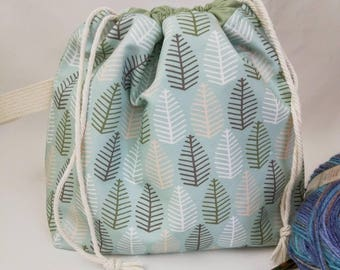 Small Super Draw Project Bag - Forest Through the Trees