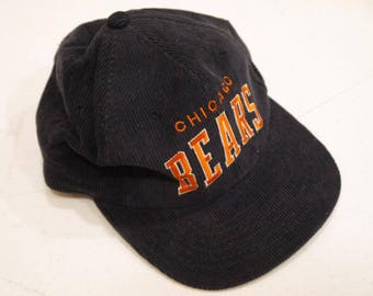 Vintage Corduroy Chicago Bears Starter NFL Football Hat