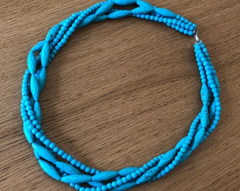 Turquoise necklace with four loops