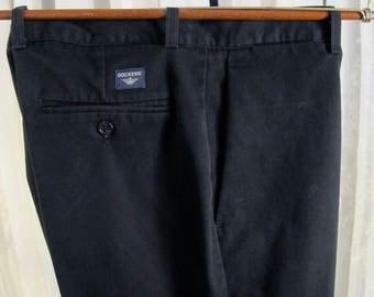 Vintage 90's Dockers black cotton denim casual pants 34W 30L