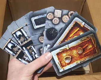 Dungeon Scenery Cards: The Forge - RPG terrain for Dungeons & Dragons, Pathfinder, Warhammer Quest, roleplaying games, 28mm games and more!