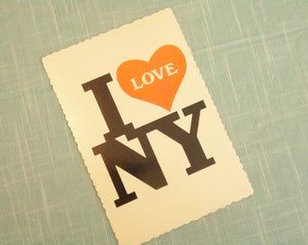 Vintage I Love New York Postcard
