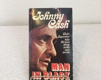Johnny Cash, Man in Black, 1975 Paperback, vintage book