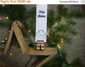 CHRISTMAS IN JULY -20%// Gingerbread Man legs bookmark // Gingerbread Man best gift for baker // Back to school gift for student, teacher //