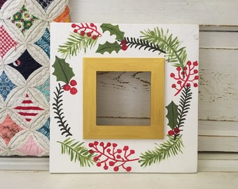 Handmade 5x5 Christmas Picture Frame