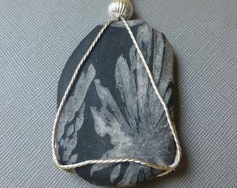 Chrysanthemum Stone Pendant Necklace