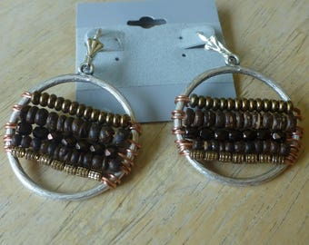 Mixed Metal Pierced Earrings