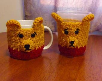 Pooh Bear Cup Cozy, Mug Cozy