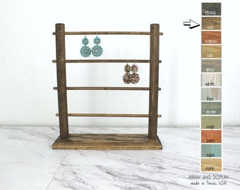 Earrings Displays, Wood Jewelry Displays, Earring Jewelry Organizers, Jewelry Stands, Store Fixtures, Craft Show Booth Displays