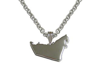 United Arab Emirates UAE Map Shape Pendant Necklace