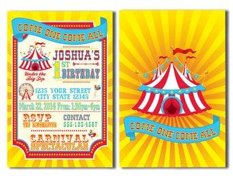 Children's Carnival Birthday Party Invitations