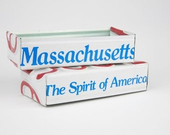 Massachusetts license plate box - father's day gift - gift for mom's dad's and grad's - teacher gift - graduation gift - graduation gift box