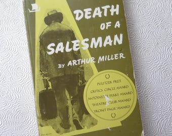 Death of a Salesman Arthur Miller Play Script Book Willy Loman Drama Theater 1971 Paperback Viking Edition 20th Century Classic