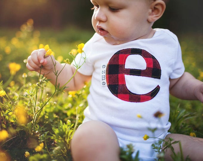 """Swanky Shank """"Personalized Initial"""" Bodysuit or Tee"""