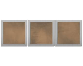 Metal Wall Artwork 'Brown Essence' - 38x12 in. - Contemporary Décor - Brown Unique Wall Sculpture