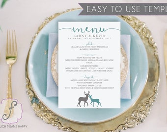 Harry Potter Inspired Menu, Potter Printable Menu, Doe and Stag Menu, Harry Potter Template. DIY Menu, Menu Template, Wedding Menu Template