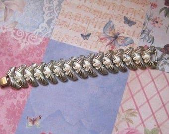 "Vintage Gold Bracelet, Marked ""CORO"",  1950's, Mid Century, Vintage Jewelry, Signed Piece"