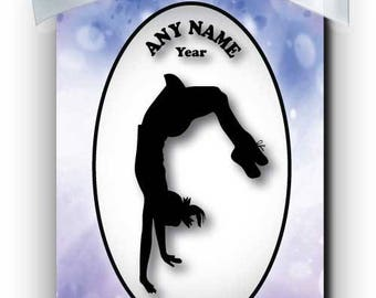 Cheerleader Tumbling Silhouette Personalized Ornament
