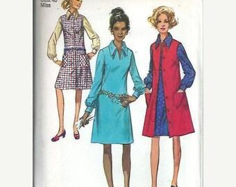 ON SALE VTG Simplicity 9028 Misses Dress and Jumper Pattern, Size 18 Uncut
