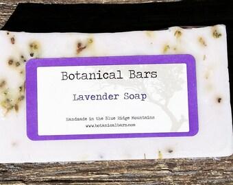 All Natural Lavender Soap - 4.5 oz Lavender Soap Bar - Botanical Bars Soap - Made with Shea