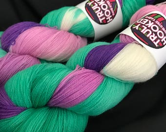 Blackcurrant Blast hand dyed lace yarn