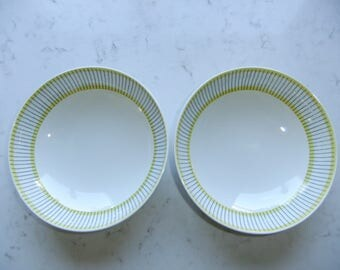 Vintage Swedish set of two deep breakfast plates - Piké by Gustavsberg - Stig Lindberg design
