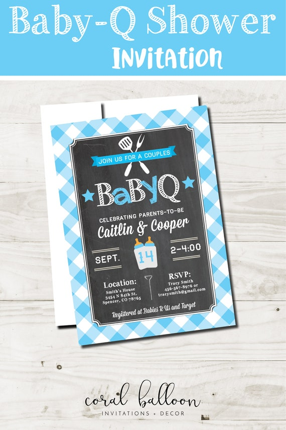 Boy Baby Shower Invitations printable couples baby shower baby q ...