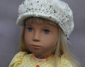 Cream Tweed Newsboy Caps for Schoenhut or Sasha & Gregor Dolls