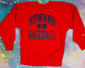 HOWARD Baseball CHAMPION Reverse Weave Sweatshirt Size XL