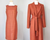 Wool Dress and Coat Ensem...