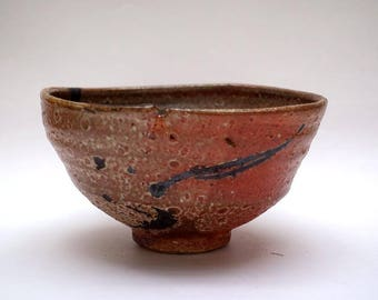 Wood fired Shino glazed Tea Bowl