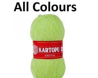 Kartopu Kristal crochet yarn, acrylic yarn, knitting yarn, shawl yarn, washcloth yarn 100% acrylic yarn 100 gr 900 meters