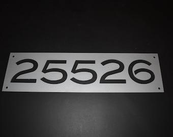 Metal 5 number address sign