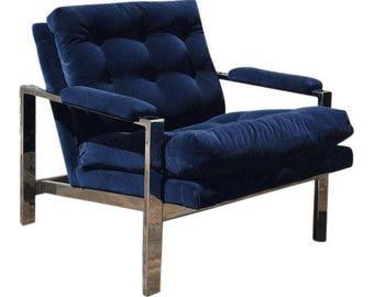 Milo Baughman Chrome chair for Thayer Coggin