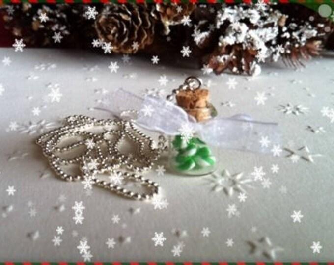 Canes ref 147 vial pendant necklace